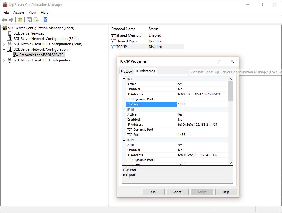 SqlServerConfiguration-Properties