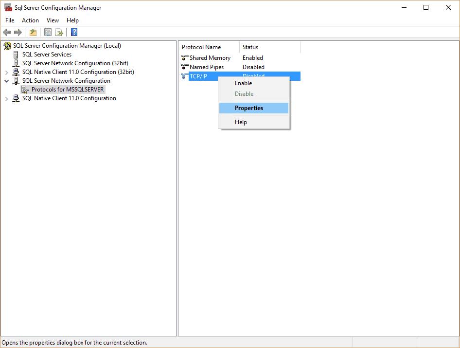 SqlServerConfiguration