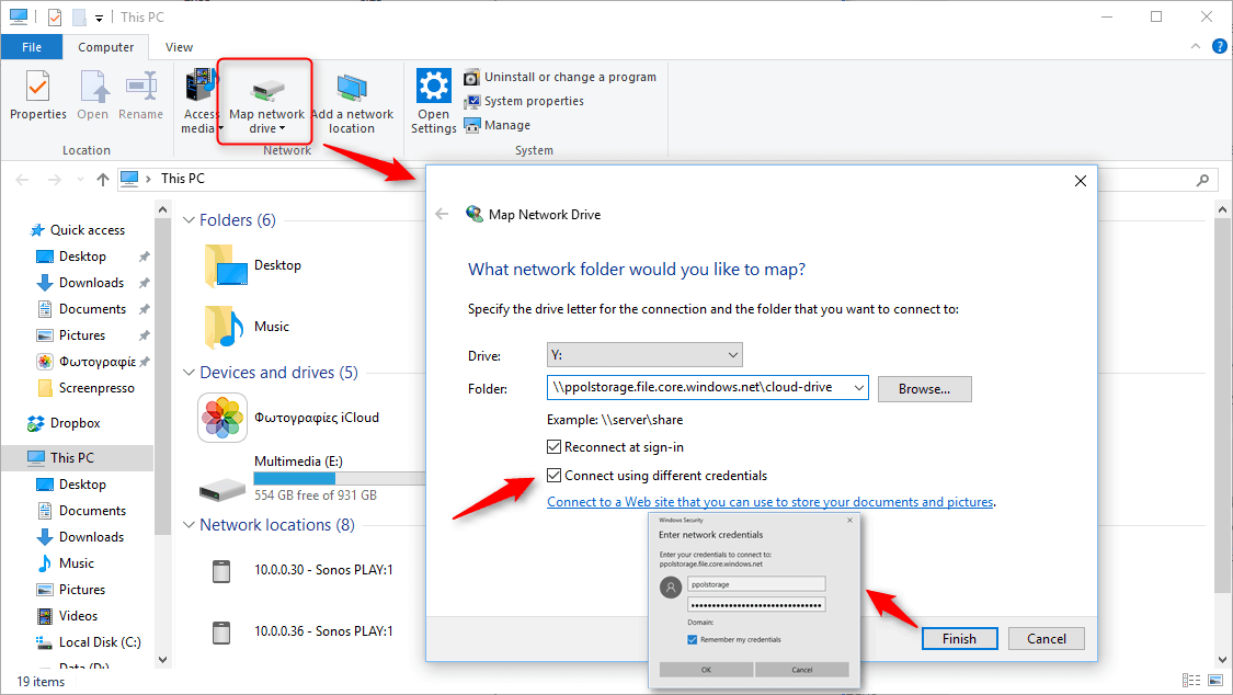 Map network drive to Azure File Storage – Paris Polyzos' blog