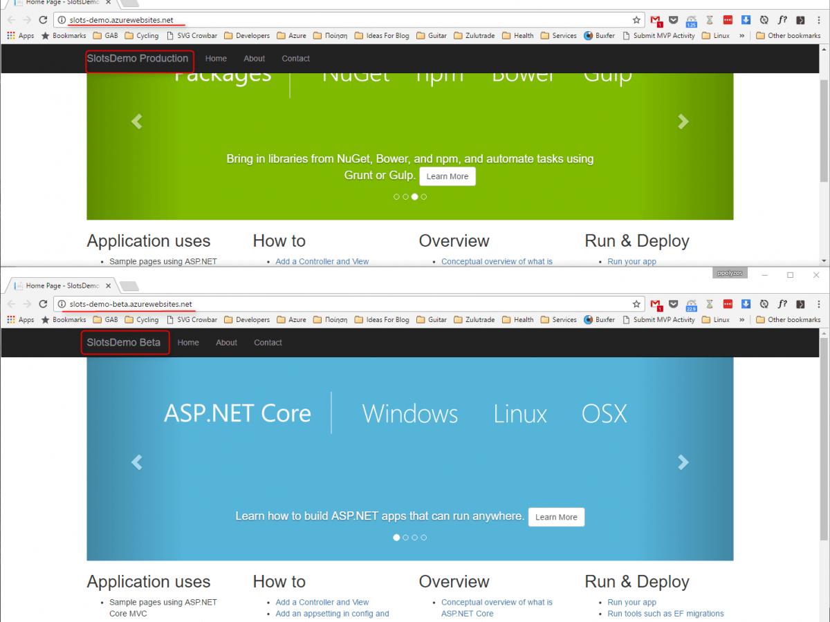 Azure Cloud Service Deployment Slots