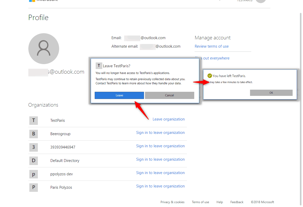 Remove your Azure account from a subscription you no longer