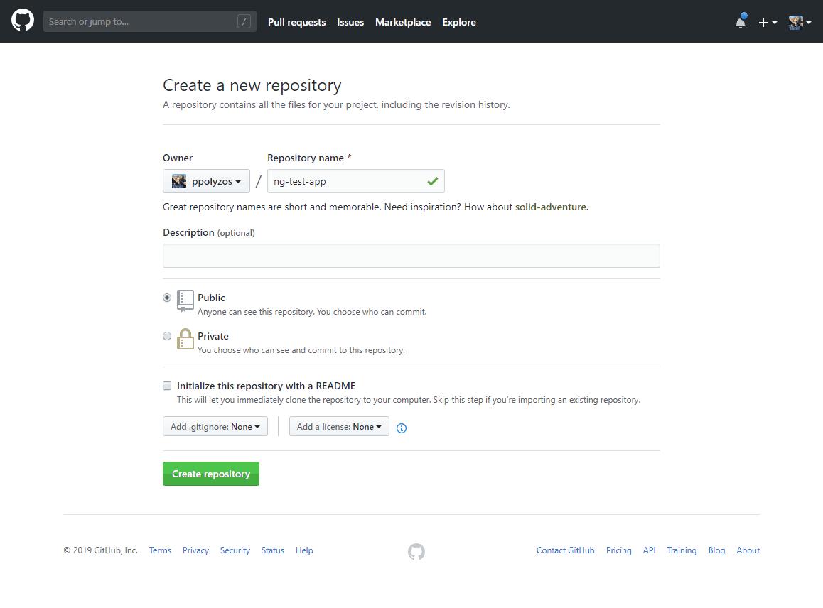 Publish an Angular web app to Azure using GitHub, AzureDevOps