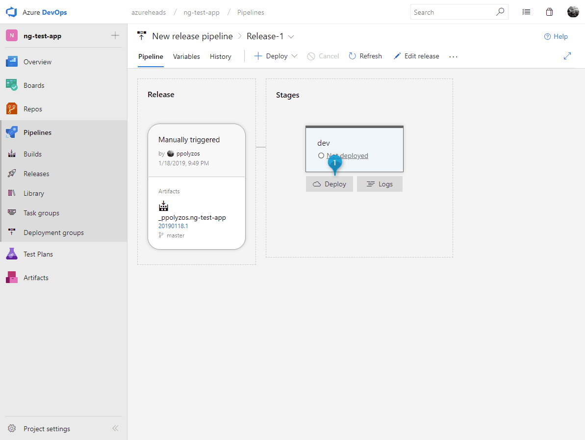 Publish an Angular web app to Azure using GitHub